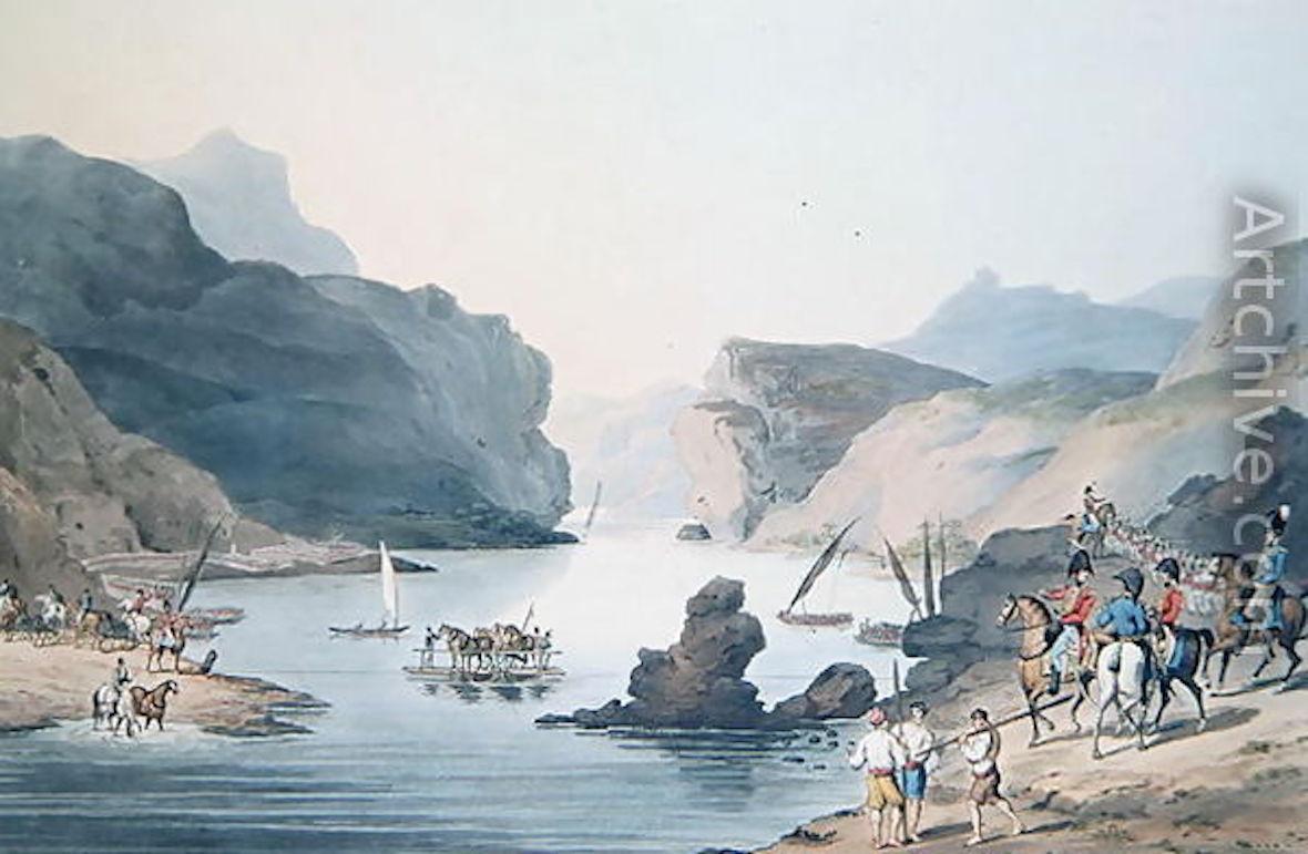 Pass of the Tagus at Villa Velha into Alemtejo (C. Turner, 1811) 4