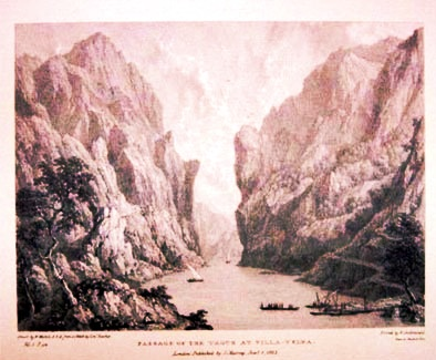Passage of the Tagus at Villa-Velha (Westall, 1823)